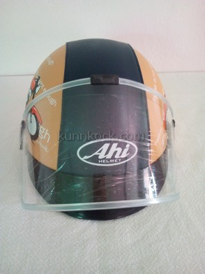 หมวกกันน็อค แบบครึ่งใบ เด็กโต-ผู้ใหญ่-เอเฮชไอลายมอเตอร์ไชต์ : Ahi Motorcycle