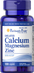 Puritan's Pride - Chelated Calcium Magnesium Zinc 100 Caplets