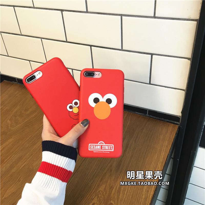 (513-105)เคสมือถือไอโฟน Case iPhone7 Plus/iPhone8 Plus เคสนิ่ม Retro Sesame Street