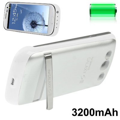 3200mAh Portable Power Bank Samsung Galaxy S 3 III (White)
