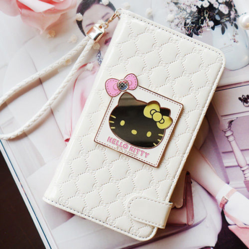 Authentic Hello Kitty Mirror Smart Wallet Case for Apple iPhone 6 (4.7inch)