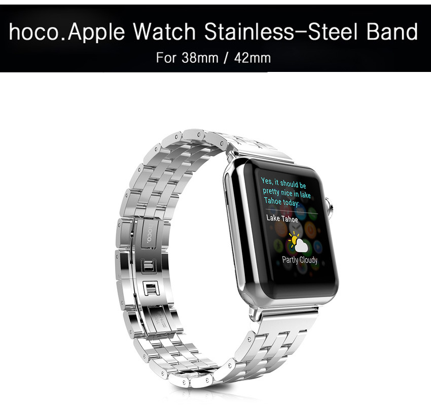 HOCO : Metal Strap Buckle Watch Band Strap 5 Pointer For Apple Watch (38mm) & (42mm)