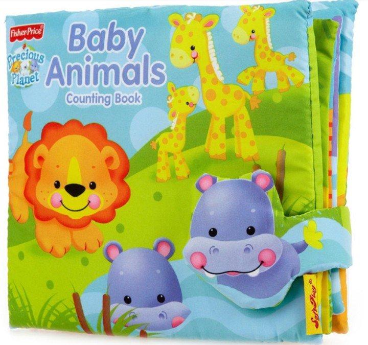 """หนังสือผ้า """"fisher price baby animals counting book"""""""