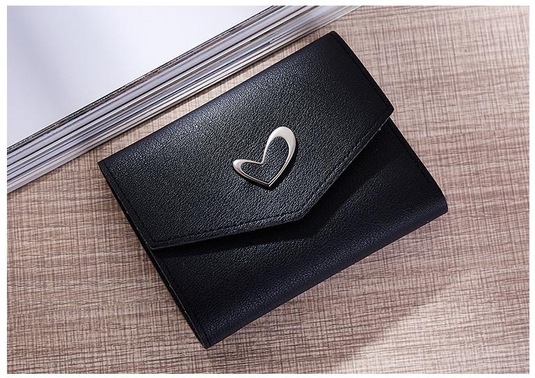 P102 กระเป๋าตังค์ Pastel Love สั้น สีดำ