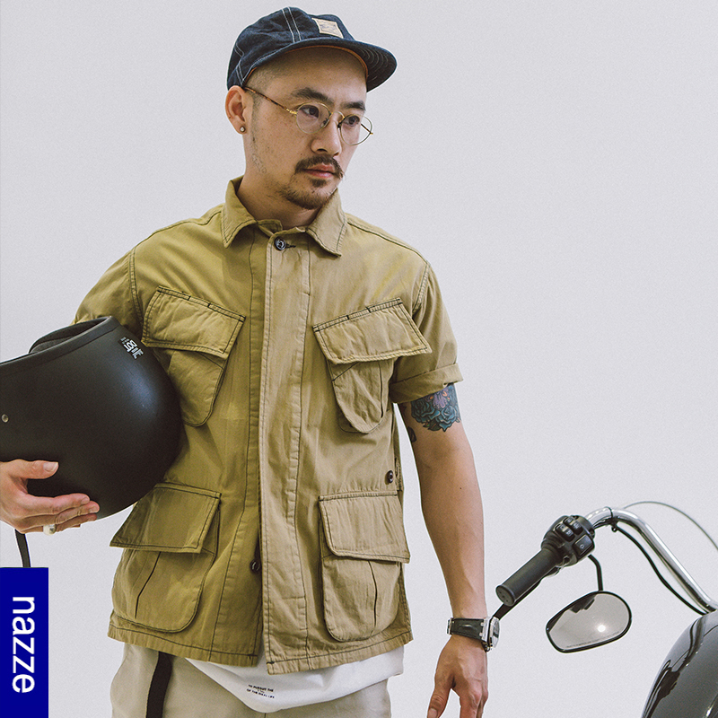 *Pre Order*เสื้อเชิ้ตผู้ชายญี่ปุ่น Brand Nazze ukiyo-e japanese fashion size M-L -XL