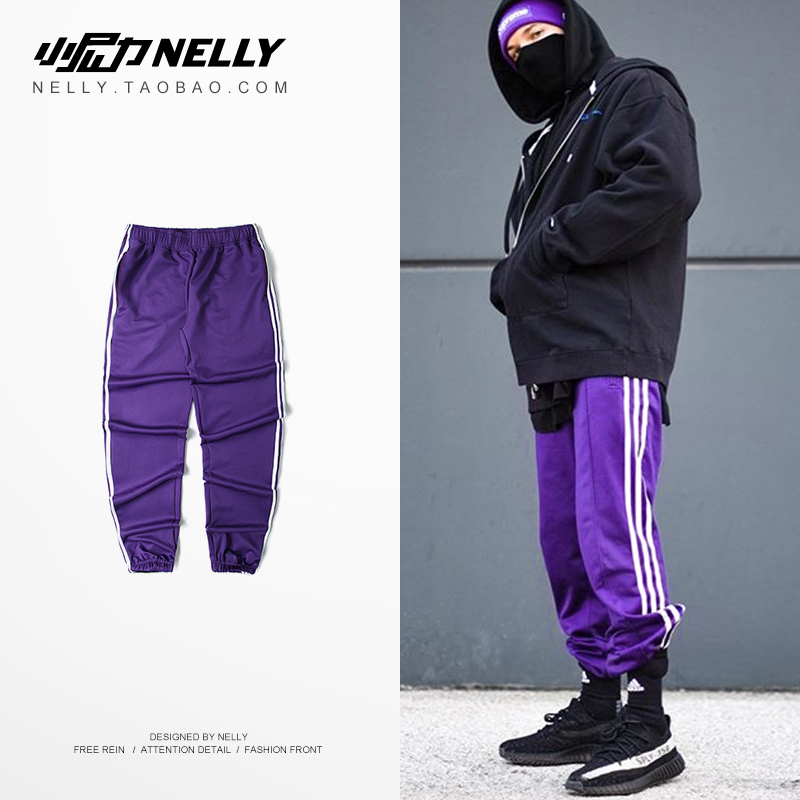 *Pre Order*LAY LOW Barbells foot Jogger Pants กางเกงลำลองแฟชั่นญี่ปุ่น size S-3XL