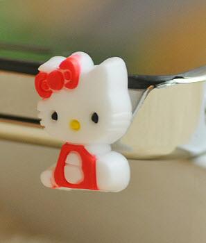 จุกเสียบ iphone4/4s/samsung kitty