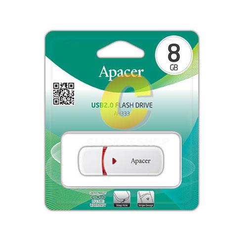 Flash Drive 8GB.'Apacer' (AH333)-Whtie