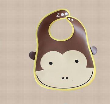 ผ้ากันเปื้อนเด็กพิมพ์ลายการ์ตูนน่ารัก รูปลิง