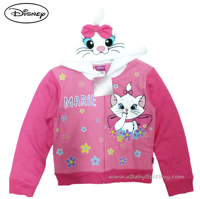 ฮ ( Size เด็ก 4-6-8-10-12-14 ปี ) Jacket Disney Marie เสื้อแจ็คเก็ต เสื้อกันหนาว แขนยาว เด็กผู้หญิง สกรีนลาย มารี สีชมพู รูดซิป มีหมวก(ฮู้ด)ใส่คลุมกันหนาว กันแดด ใส่สบาย ดิสนีย์แท้ ลิขสิทธิ์แท้