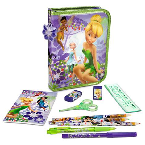 z Disney Fairies Zip-Up Stationery Kit