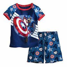 Captain America PJ Pal Shorts set for Boys size3