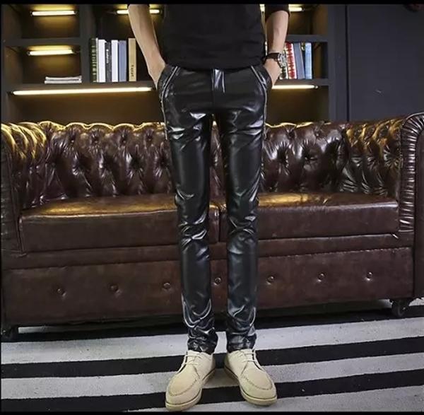 (Pre-order) กางเกงหนัง ขายาว หนังพียู คุณภาพดี รุ่น 5633