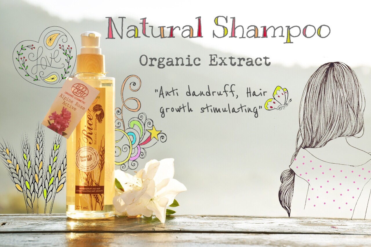Natural Shampoo Jasmine Rice with Alpine Rose Organic