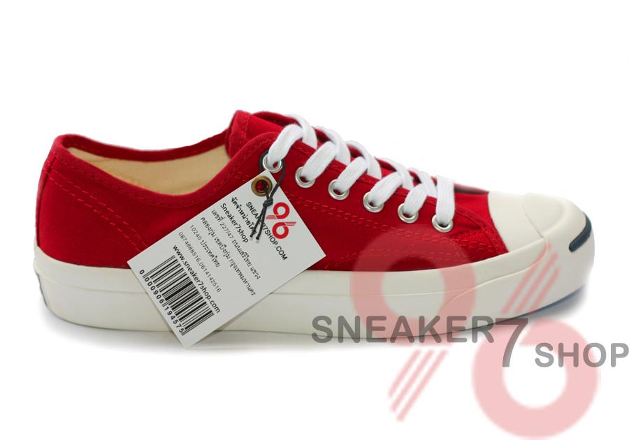รองเท้า Converse Jack Purcell สีแดง ผู้ชาย ผู้หญิง Shoes Size 36-44 พร้อมกล่อง
