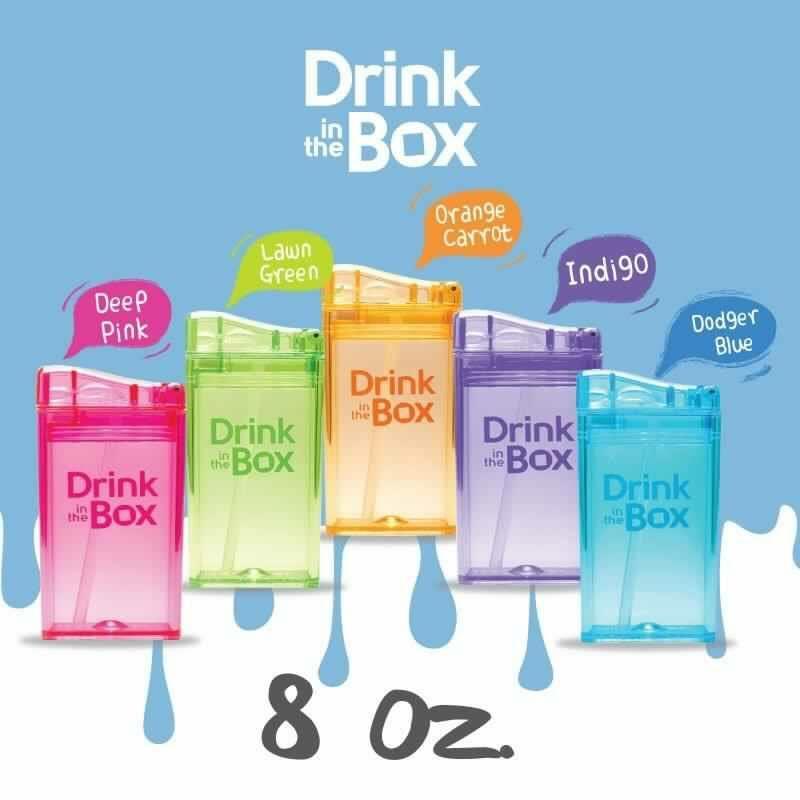 Drink in the Box ถ้วยหลอดดูดสุญญากาศ รูปทรงกล่อง สินค้าคุณภาพจากแคนาดา ขนาด 8 ออนซ์