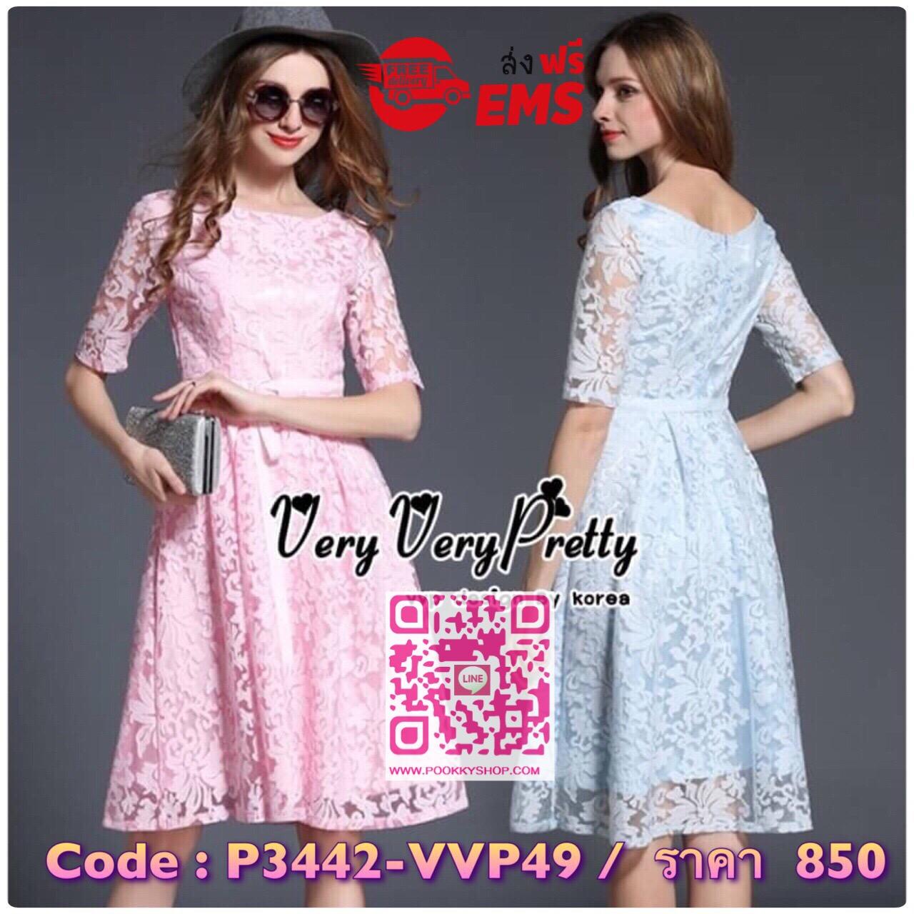 Luxurious Vintage Embroidered Lace Dress เดรสผ้าลูกไม้ทั้งตัวสไตล์วินเทจ เนื้อผ้าลูกไม้สวยนุ่มฉลุลายโชว์งานได้สวยมากค่ะ งานมีซับในทั้งตัวค่ะ ทรงคอกลมแขนสั้น มาพร้อมริบบิ้นประดับเพิ่มความสวยให้กับชุดค่ะ ช่วงเอวเข้ารูป กระโปรงทรงเอพรางหุ่นได้ดีทีเดียวค่ะ งา