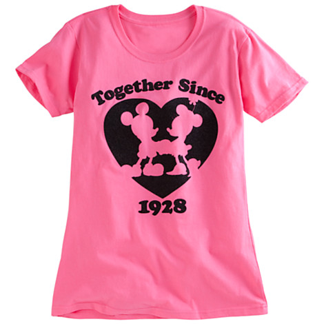 Mickey and minnie mouse tee for women(size L)(พร้อมส่ง)