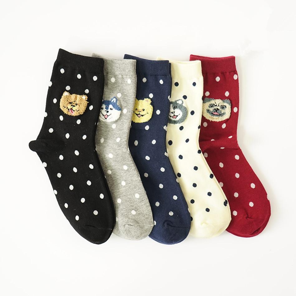 S545**พร้อมส่ง** (ปลีก+ส่ง) ถุงเท้าแฟชั่นเกาหลี ข้อยาว แต่งลายขนหนู เนื้อดี งานนำเข้า(Made in china)
