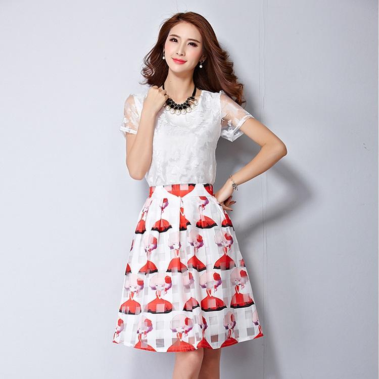 แฟชั่นเกาหลี set 2 ชิ้น เสื้อและกระโปรงสวยมากๆ