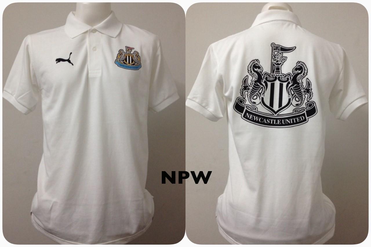 เสื้อโปโล นิวคาสเซิล ยูไนเต็ด 2014/2015 สีขาว NPW