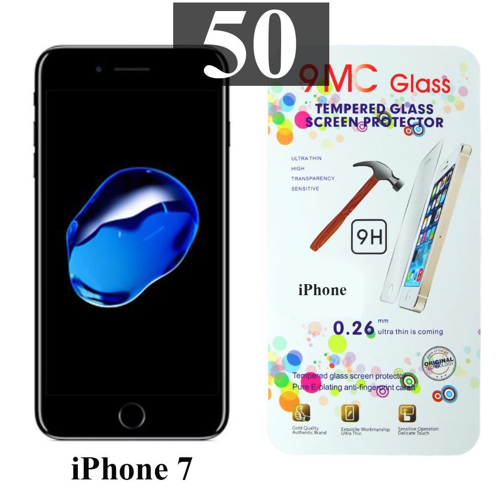 ฟิล์มกระจก iPhone 7 9MC แผ่นละ 29 บาท (แพ็ค 50)