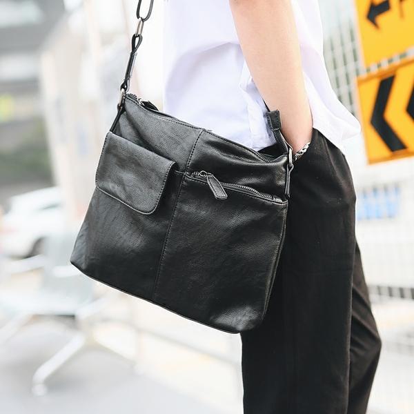 Pre-order ขายส่ง กระเป๋าสะพายข้าง Messenger ใส่ ipad 10 นิ้ว แฟขั่นเกาหลี รหัส Man-6430 สีดำ