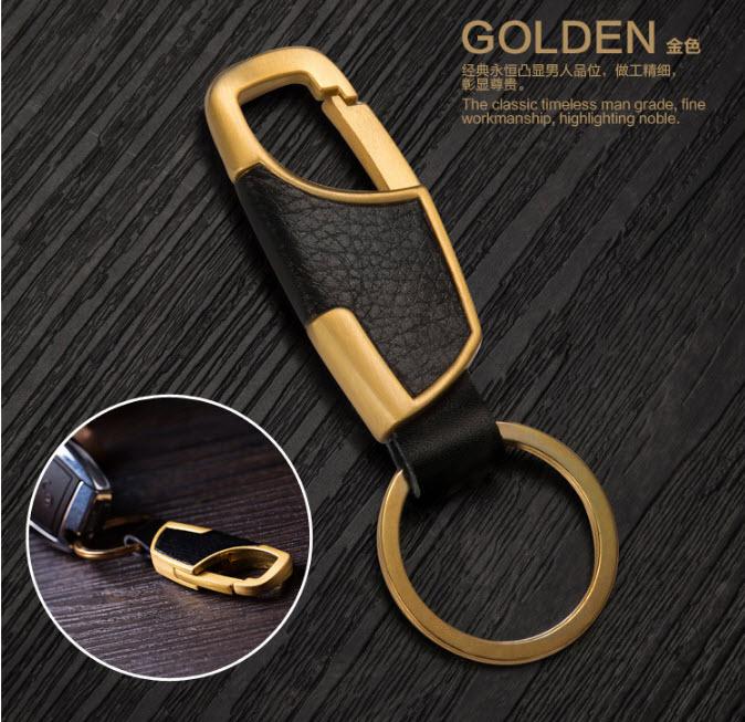 พวงกุญแจรถยนต์สีทอง