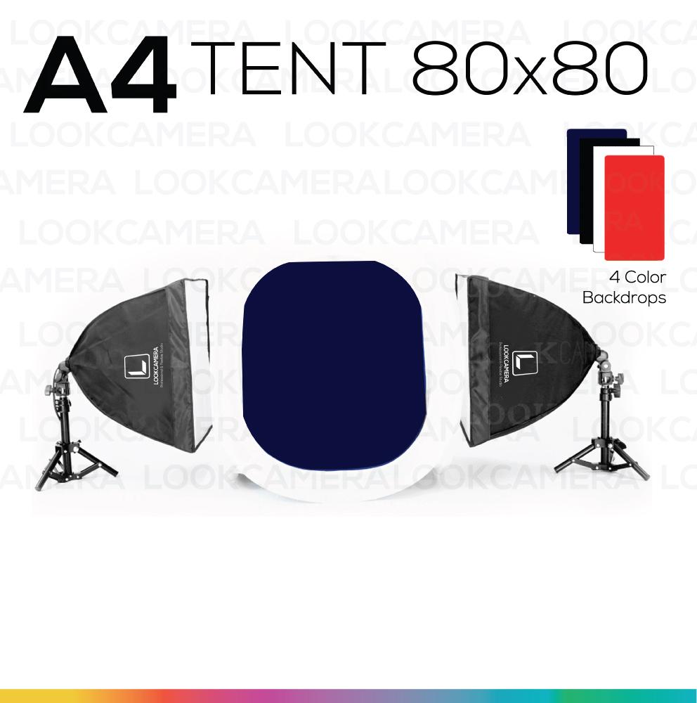 A4 TENT 80x80 ชุดไฟแสงนุ่ม ถ่ายภาพสินค้า ถ่ายภาพเครื่องชากาแฟ ถ่ายภาพเครื่องหนัง ถ่ายภาพของขวัญ ถ่ายภาพอุปกรณ์กล้อง ถ่ายภาพโทรศัพท์ ipad เครื่องใช้ไฟฟฟ้า
