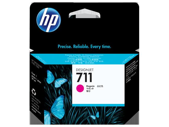 HP 711 29-ml ตลับหมึกอิงค์เจ็ท สีม่วงแดง Magenta Original Ink Cartridge (CZ131A)
