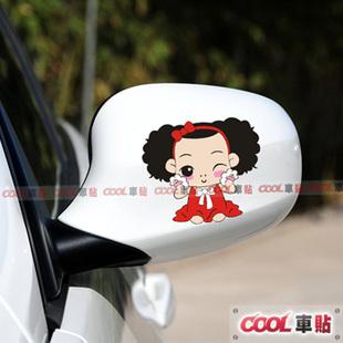 สติ๊กเกอร์ติดกระจกมองข้างรถ เด็กปะแป้ง (1Pack/2ชิ้น)