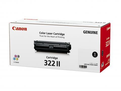 Canon Cartridge-322IIBK ตลับหมึกโทนเนอร์ สีดำ Black Original Toner Cartridge