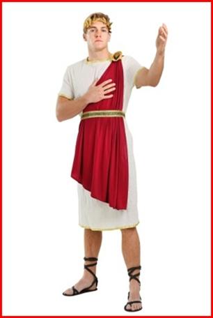 ชุดโรมัน Julius Caesar ชุดกรีกชาย