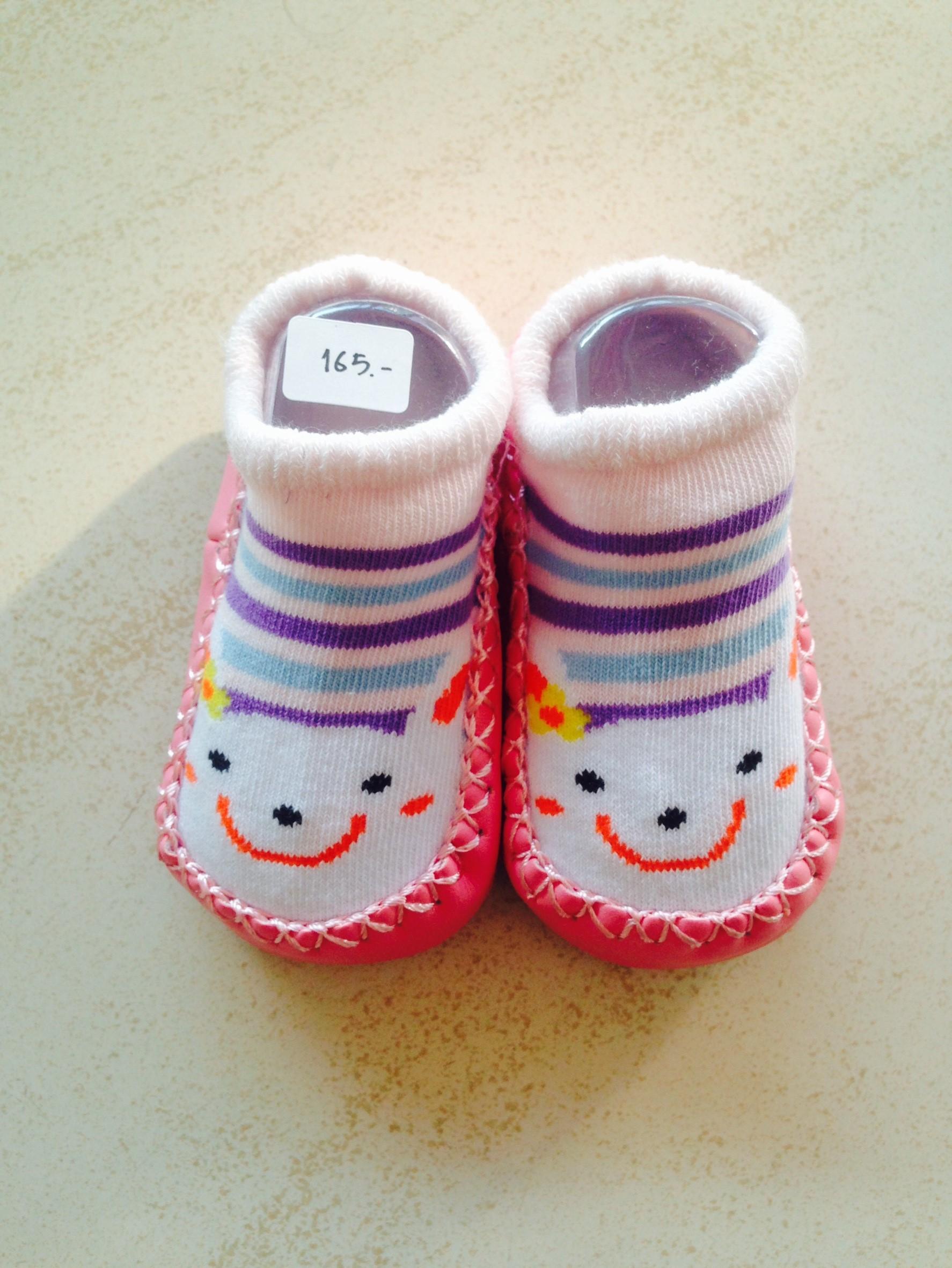 รองเท้าผ้า พื้นยางกันลื่น (6 - 12 เดือน)