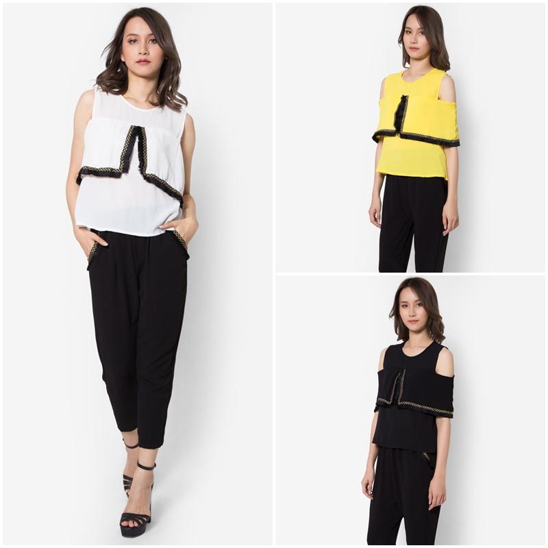 ชุดเสื้อและกางเกงขายาว Embroidered Tassels