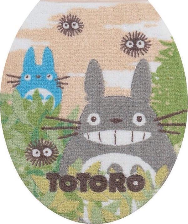 ผ้าครอบฝาชักโครก My Neighbor Totoro สีเบจ