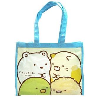 กระเป๋าสะพายขนาดกลาง Sumikko Gurashi สีฟ้า