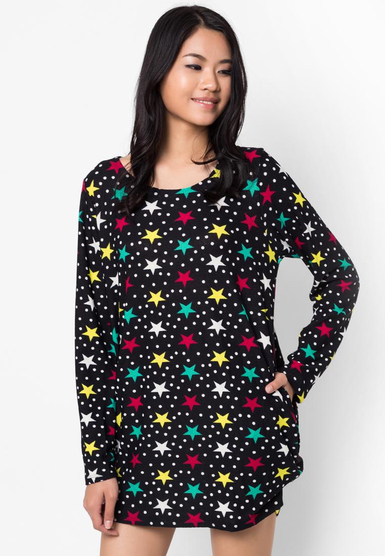 ชุดเดรส Cotton Star Print