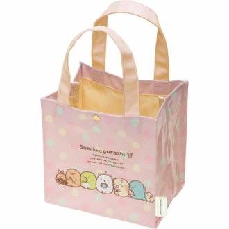 กระเป๋าทรงสี่เหลี่ยม Sumikko Gurashi สีชมพู